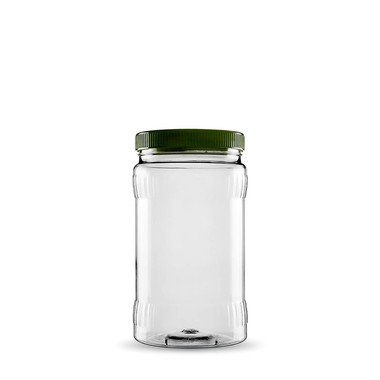 Sarkap - Sarkap 1 Box (20 Adet ) 1500 ml Pet Jar with Twist-off Cap & Longitudinal Sections