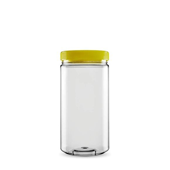 Sarkap 1 Box (20 pcs) 1500 ml Cylindrical Pet Jar with Twist-off Cap