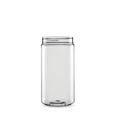 Sarkap 1 Box (22 pcs) 1000 ml Cylindrical Pet Jar with Twist-off Cap - Thumbnail