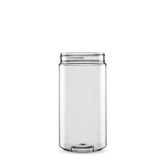 Sarkap 1 Box (22 pcs) 1000 ml Cylindrical Pet Jar with Twist-off Cap