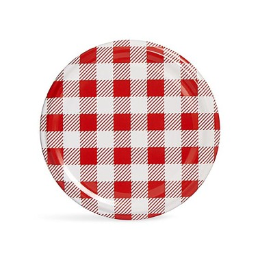 SarkapHygienic Packed 10 PCs Twist-off Caps - Red Plaid - 82mm - Thumbnail
